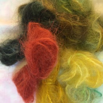 Hand Dyed Brushed Mohair 20 gms